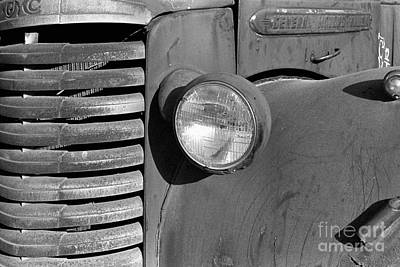 Photograph - abstract auto still life - Old GMC I by Sharon Hudson