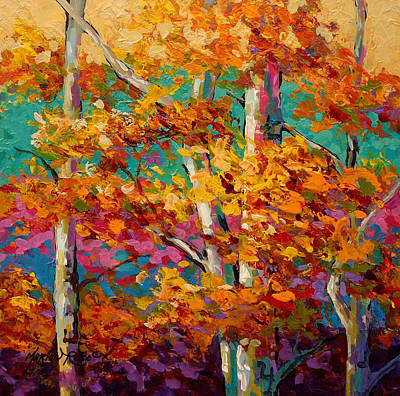 Tree Art Painting - Abstract Autumn IIi by Marion Rose