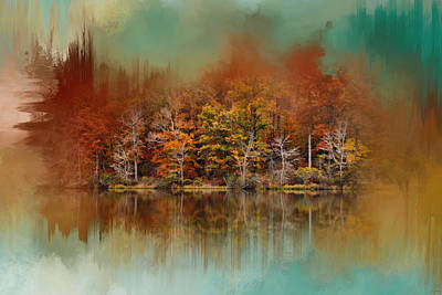 Photograph - Abstract Autumn Lake by Jai Johnson