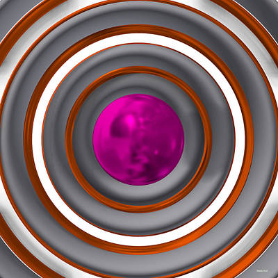 Abstract Digital Art - Abstract Ball by Alberto  RuiZ