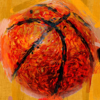Abstract Basketball Art Print by David G Paul