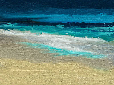 Digital Art - Abstract Beach by Anthony Fishburne