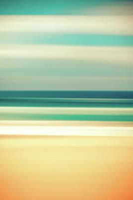 Abstract Beach Art Print by Az Jackson