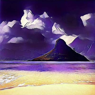 Abstract Beach Landscape Digital Art - Abstract Beach Landscape by Anita Fugoso