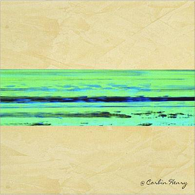 Abstract Movement Mixed Media - Abstract Beach Landscape  by Corbin Henry