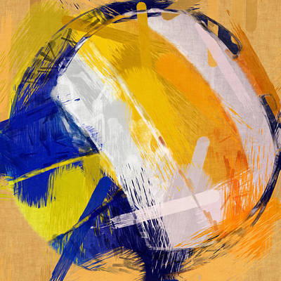Sports Digital Art - Abstract Beach Volleyball by David G Paul