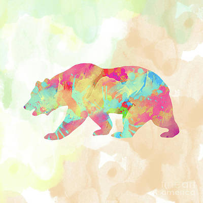 Animals Digital Art Royalty Free Images - Abstract Bear Royalty-Free Image by Amir Faysal