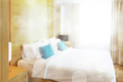 Abstract Bedroom Art Print by Atiketta Sangasaeng