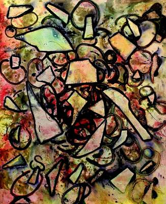 Strings Mixed Media - Abstract Bird by John  Nolan