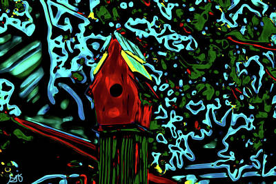 Photograph - Abstract Birdhouse by Gina O'Brien