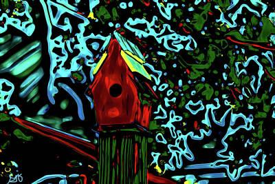 Photograph - Abstract Birdhouse by Gina O'Brien