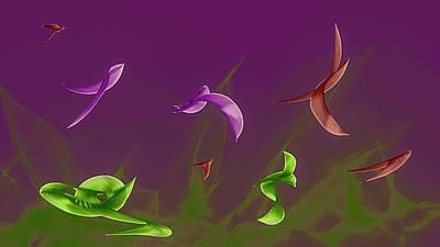 Photograph - Abstract Birds #g2 by Leif Sohlman