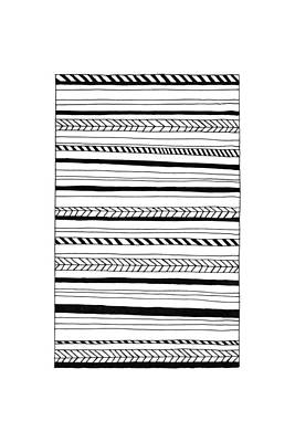 Abstract Black Lines Pattern Art Print