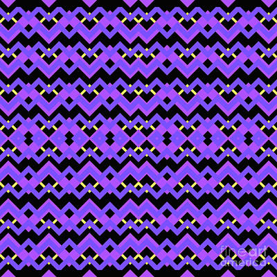 Santa Monica Digital Art - Abstract Black, Purple And Blue Pattern For Home Decoration by Pablo Franchi