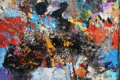 Art Print featuring the painting Abstract Blast by Melinda Saminski