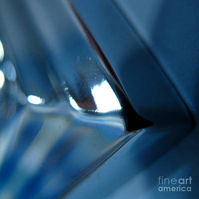 Metal Art Abstraction Photograph - Abstract Blue - Aim by Jason Freedman