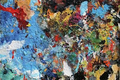 Art Print featuring the painting Abstract Blue Blast by Melinda Saminski
