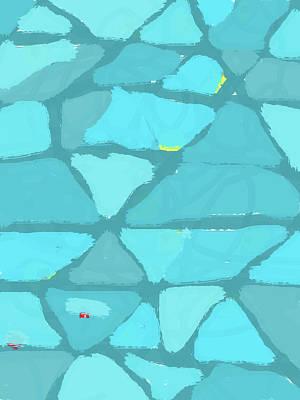 Digital Art - Abstract Blue Blotches by Keshava Shukla
