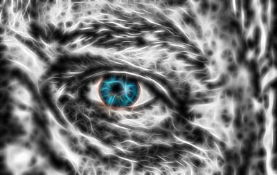 Art Print featuring the photograph Abstract Blue Eye by Scott Carruthers