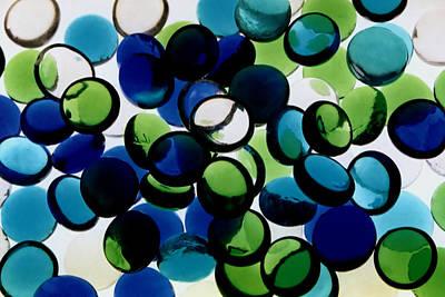 Abstract Blue Green II Art Print