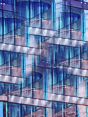 Photograph - Abstract Blue Skyscraper by Judi Saunders
