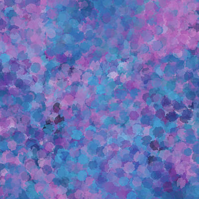 Mixed Media - Abstract Blues Pinks Purples 3 by Clare Bambers