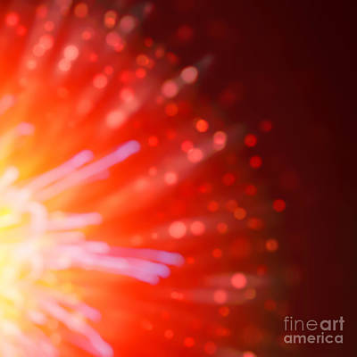 Photograph - Abstract Blur Firework Background by Anna Om