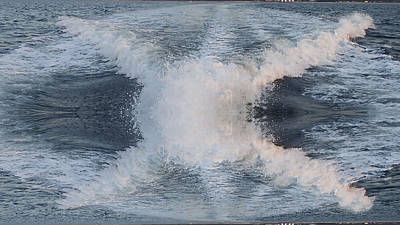 Photograph - Abstract Boat Wake by Susan Jensen