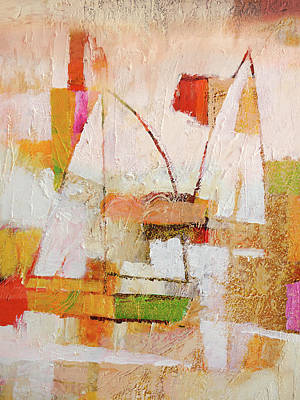 Painting - Abstract Boats by Lutz Baar