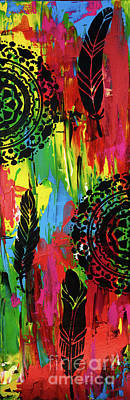 Painting - Abstract Boho Design Diptych - Right Image - By Nikki And Kaye Menner by Kaye Menner