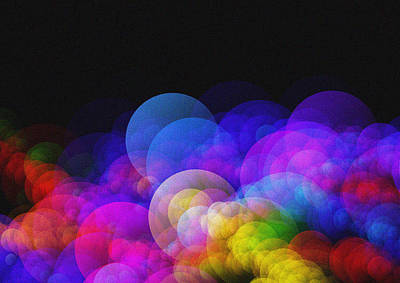 Abstract Bokeh - Rainbow Lights Art Print by Celestial Images