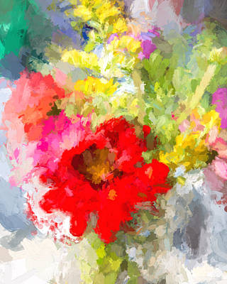 Photograph - Abstract Bouquet by Natalie Rotman Cote
