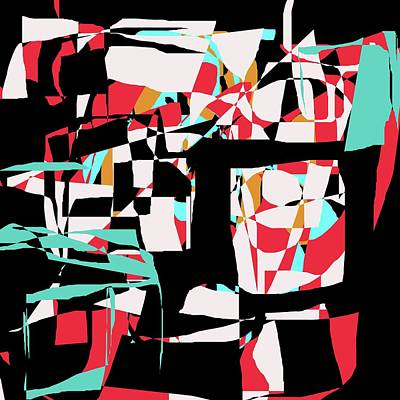 Digital Art - Abstract Boxes by Jessica Wright