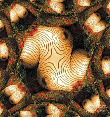 Surrealism Royalty-Free and Rights-Managed Images - Abstract Breasts by MB by Esoterica Art Agency