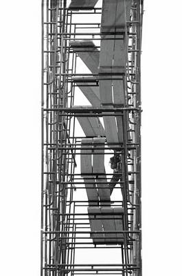 Photograph - Abstract Building Scaffolding by Doc Braham