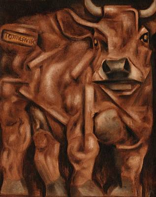 Painting - Tommervik Abstract Bull Art Print by Tommervik