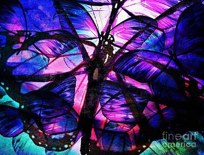 Digital Art - Abstract Butterflies by Maria Urso