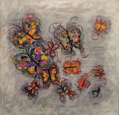 Abstract Butterflies Art Print