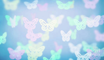 Photograph - Abstract Butterfly Background by Anna Om