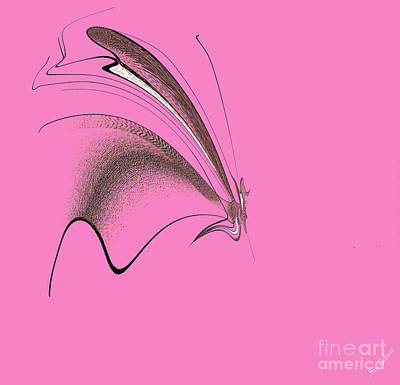 Digital Art - Abstract Butterfly by Iris Gelbart