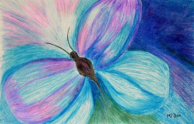 Pastel - Abstract Butterfly by Maria Urso