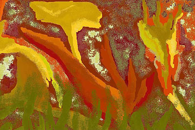 Canna Digital Art - Abstract Cannas by Carole Boyd
