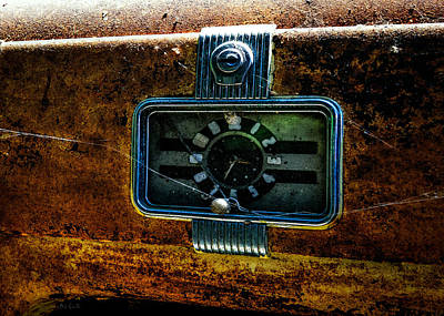 Photograph - Abstract Cars Special Deluxe Clock by Bob Orsillo