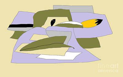 Digital Art - Abstract Cartoon by Nancy Kane Chapman