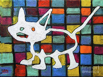 Painting - Abstract Cat by Gerhardt Isringhaus
