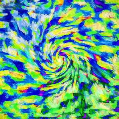 Storm Digital Art - Abstract - Category 5 by Jon Woodhams