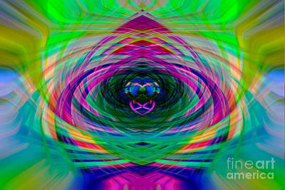Digital Art - Abstract Catherine Wheel by Brian Roscorla