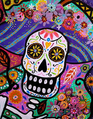 Print featuring the painting Abstract Catrina by Pristine Cartera Turkus