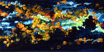 Abstract Painting - Abstract Celestial  by Harsh Malik