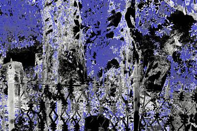 Headstones Mixed Media - Abstract Cemetery by Dora Hembree